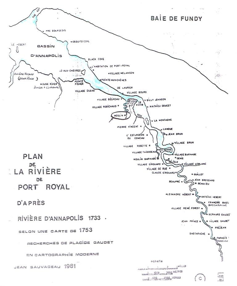 carte Riv de Port Royal 1753